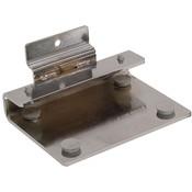 Slatwall Chrome Shelf Bracket for 3/8 Thick Glass Shelves