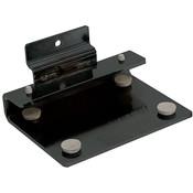 Slatwall Black Shelf Bracket for 3/8 Thick Glass Shelves