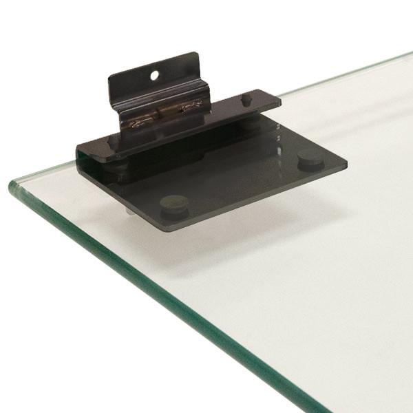 Astounding Slatwall Bracket For 3 8 Thick Glass Shelves Black Home Interior And Landscaping Ferensignezvosmurscom