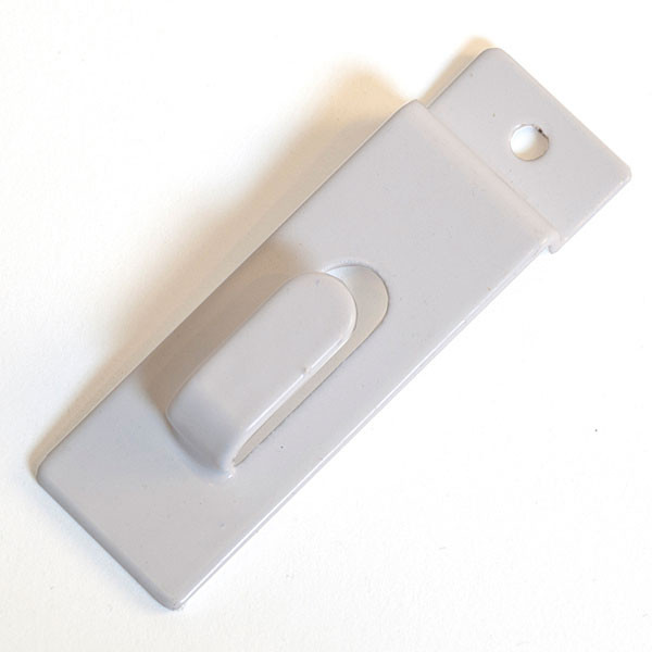 Slatwall picture hook- white