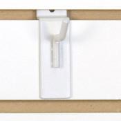 """Slatwall hook 1"""" long - 1/4"""" wire - white"""