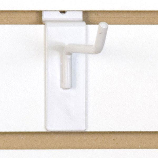"""Slatwall hook 4"""" long - 1/4"""" wire - white"""