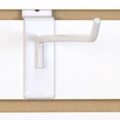 """Slatwall hook 8"""" long - 1/4"""" wire - white"""