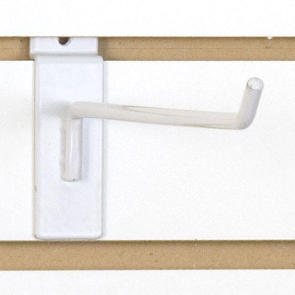 """Slatwall hook 10"""" long - 1/4"""" wire - white"""
