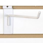 """Slatwall hook 12"""" long - 1/4"""" wire - white"""