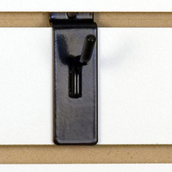 """Slatwall hook 1"""" long - 1/4"""" wire - black"""