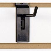 """Slatwall hook 4"""" long - 1/4"""" wire black"""