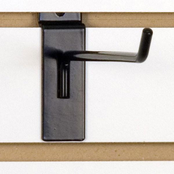 """Slatwall hook 8"""" long - 1/4"""" wire black"""