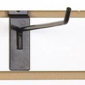 """Slatwall hook 10"""" long - 1/4"""" wire black"""