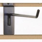 """Slatwall hook 12"""" long - 1/4"""" wire black"""
