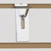 "Slatwall hook 1"" long - 1/4"" wire chrome"