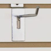 "Slatwall hook 6"" long - 1/4"" wire chrome"
