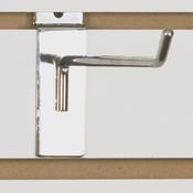 "Slatwall hook 8"" long - 1/4"" wire chrome"