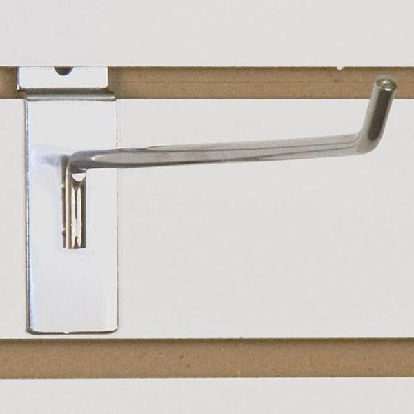 "Slatwall hook 12"" long - 1/4"" wire chrome"