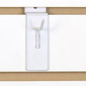 """Slatwall hook 1"""" long 1/8"""" dia. wire - white"""