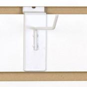 """Slatwall hook 4"""" long 1/8"""" dia. wire - white"""
