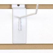 """Slatwall hook 6"""" long 1/8"""" dia. wire - white"""