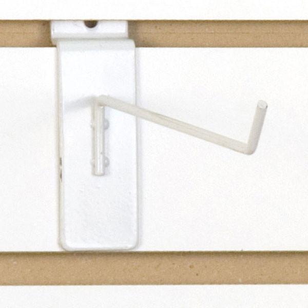 """Slatwall hook 8"""" long 1/8"""" dia. wire - white"""