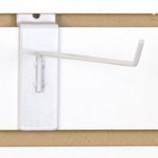 """Slatwall hook 10"""" long 1/8"""" dia. wire - white"""