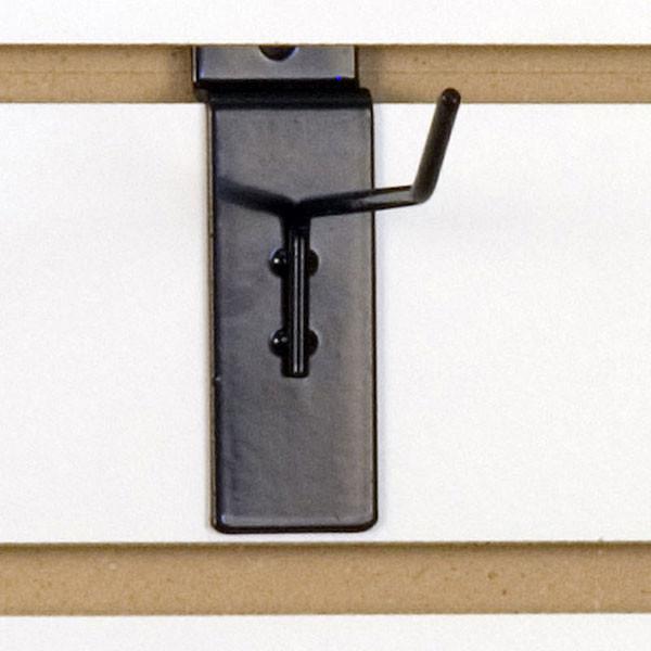 """Slatwall hook 4"""" long 1/8"""" dia. wire black"""