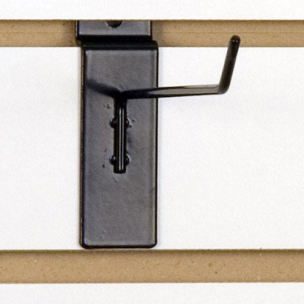 """Slatwall hook 6"""" long 1/8"""" dia. wire black"""