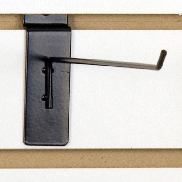 """Slatwall hook 10"""" long 1/8"""" dia. wire black"""