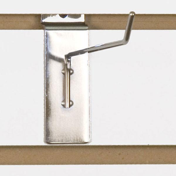 """Slatwall hook 6"""" long 1/8"""" dia. wire chrome"""