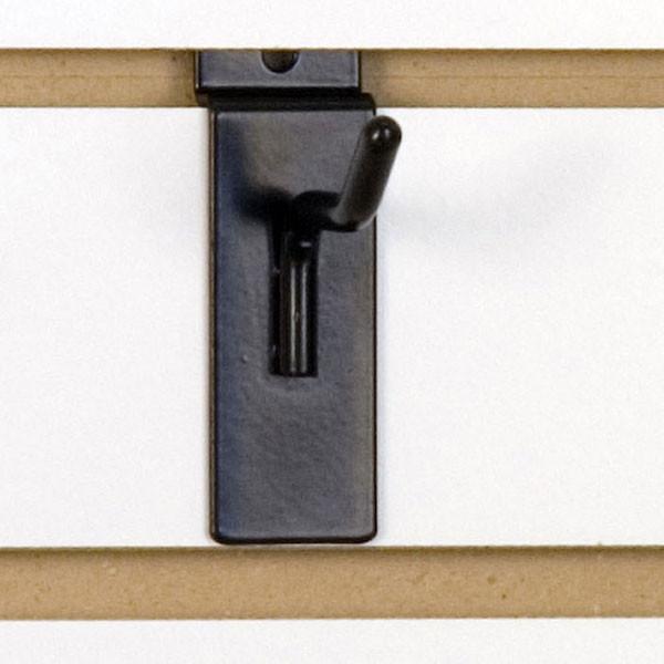 """Slatwall hook 2"""" long - 1/4"""" wire– black"""