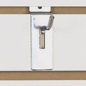 "Slatwall hook 2"" long - 1/4"" wire chrome"