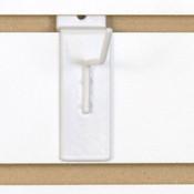 """Slatwall hook 2"""" long 1/8"""" dia wire white"""