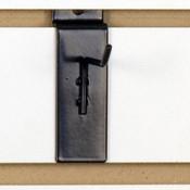 """Slatwall hook 2"""" long 1/8"""" dia. wire black"""