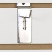 """Slatwall hook 2"""" long 1/8"""" dia. wire chrome"""