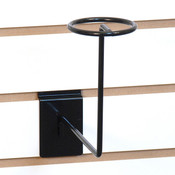 Slatwall millinery rack - black