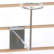 Slatwall millinery rack - chrome