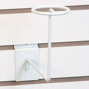 Slatwall millinery rack - white