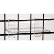 "Acrylic grid shelf 9""w x 4""d x 1/8"" - clear"