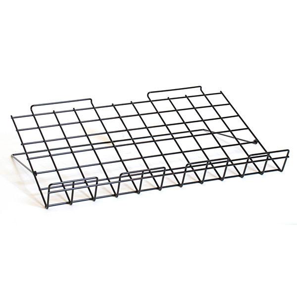 "Adjustable slatwall shelf 24""w x 14""d - black"