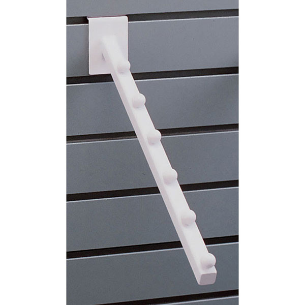 Slatwall 6-ball waterfall– white
