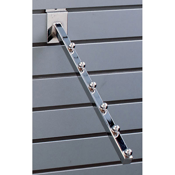 Slatwall 6-ball waterfall– chrome