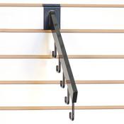 Slatwall waterfall 5-hook rectangular tube - black