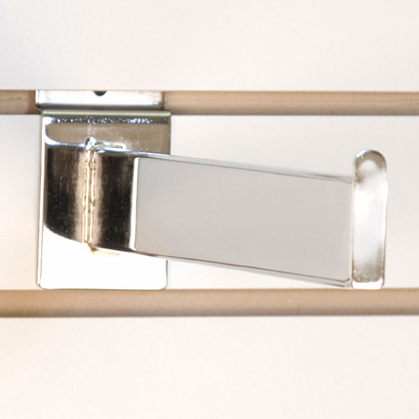 "Slatwall faceout 12"" rectangular tube - chrome"