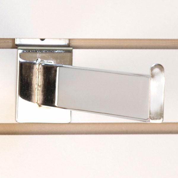 """Slatwall faceout 12"""" rectangular tube - chrome"""