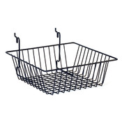 "Basket 12""w x 12""d x 4""d Universal fit - black"