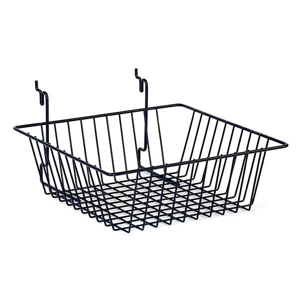 "Basket 12""w x 12""d x 4""d Universal fit - black"