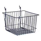 "Basket 12""w x 12""d x 8""h Universal fit - black"
