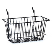 "Basket 12""w x 6""d x 6""h Universal fit - black"
