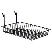 "Basket 10""w x 14""d x 2""h Universal fit - black"