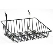 Wire Basket 12w x 8d x 4h Sloping - black