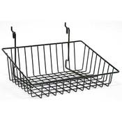 Wire Basket 12w x 8d x 4h Sloping - black