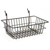 Wire Basket 12w x 8d x 4h - black